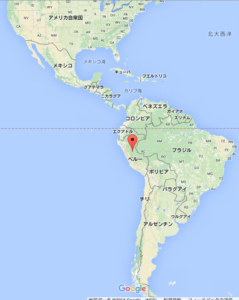 ペルー地図(google mapより)