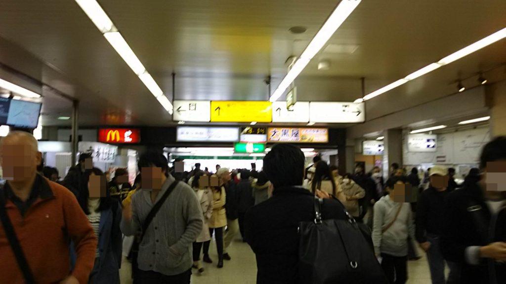 松戸駅改札出たところ