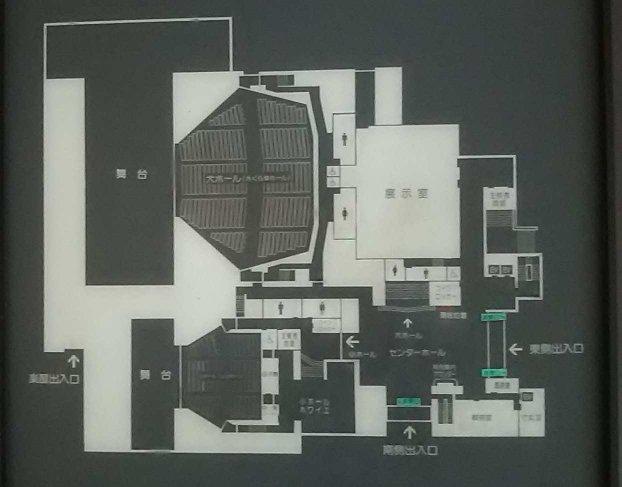 会場内部の図